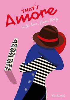 Carluccio's Valentines Poster - Paul Thurlby