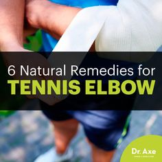 Joint Pain Remedies 6 Natural Remedies for Tennis Elbow - Dr. Axe - Not an athlete? Tennis elbow can make everyday movements miserable. Here's how to naturally deal. Tennis Elbow Relief, Tennis Elbow Symptoms, Tennis Elbow Exercises, What Causes Tennis Elbow, Rheumatoid Arthritis Diet, Arthritis Remedies, Inflammatory Arthritis, Health Remedies, Tennis Elbow