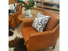 Club Arm Chair Cigar Leather 70x90x85