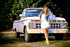 senior pictures girl with truck - Google Search