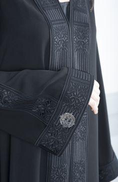 handmade abaya, ready to wear Abaya Fashion, Muslim Fashion, Fashion Dresses, Modern Islamic Clothing, Black Abaya, Hijab Niqab, Abaya Designs, Beautiful Hijab, Muslim Women