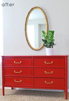 dynamite red dresser