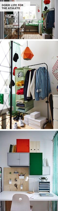 Moving away from home and finally getting your own space can be exciting - but an empty dorm room is uninspiring at best. Click for IKEA ideas to add personality to your dorm room or college space, complete with a perfectly customized space to sleep, study and socialize. Interior design by Emma Parkinson. Digital design by Cecilia Englund. Copywriting by Vanessa Algotsson. Photography by Martin Cederblad. Editing by Linda Harkell.