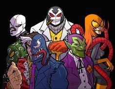SpiderBatman's villains