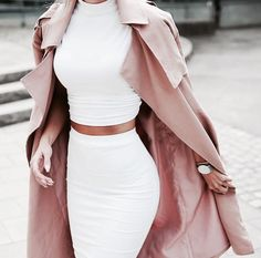 coat,rose coat,red rose coat,white two piece,classy,two-piece,two piece dress set,crop tops,dress,white,skirt,top,jacket,long pale pink fashionable trench coat,jumpsuit,style,white dress,white top,white shirt,long coat,pink,girly,classy and fabulous,beutifull,elegant,women,beautiful