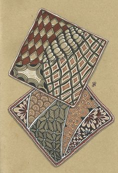 pattern with zentangles Tangle Doodle, Tangle Art, Zen Doodle, Doodle Art, Zentangle Drawings, Doodles Zentangles, Zentangle Patterns, Doodle Drawings, Henna