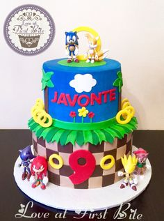 Sonic the Hedgehog Cake Sonic Birthday Cake, Sonic Cake, Sonic Birthday Parties, Minion Birthday, Baby Boy Birthday, Birthday Cake Girls, 5th Birthday, Birthday Ideas, Sonic Party