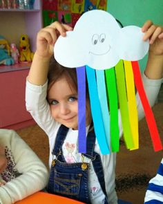 Cute Paper Rainbow Kid Craft Spring Crafts For Kids, Rainbow Crafts, Paper Crafts, Diy Crafts, Sunday School Crafts, Drawing For Kids, Preschool Crafts, Toddler Activities, Birthdays
