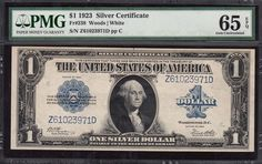 This is a great note for a gem uncirculated type set. Overall, this is just about the ONLY large size graded gem note you can get for a price this cheap. This note is graded Gem New 66 PPQ from PCGS. Sell Coins, Us Coins, Silver Certificate, Coin Auctions, New Fathers, One Dollar, Dollar Bills, Rare Coins, Coin Collecting