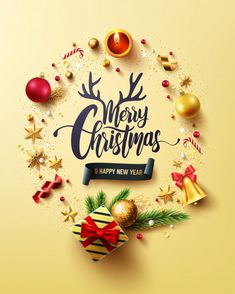 Merry Christmas And Happy New Years Golden Card Merry Christmas Wallpaper, Merry Christmas Vector, Christmas Images, Merry Xmas, Christmas Wishes Messages, Christmas Mood, Merry Christmas And Happy New Year, Christmas Jesus, Family Christmas