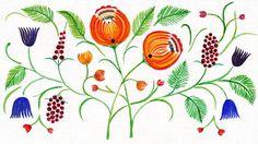 Hand Painted Card  FREE Shipping by KozakSpichko on Etsy, $5.00