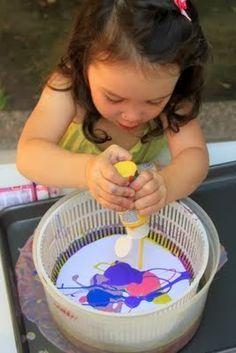 Bri-coco de Lolo: Peinture à l'essoreuse à salade