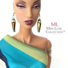 Doll Jewelry - Swarovski Crystal Earrings - Fashion Royalty dolls