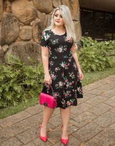 Trendy Ideas Dress Floral Plus Size Classy Spring Dresses Casual, Winter Dress Outfits, Trendy Dresses, Simple Dresses, Nice Dresses, Dresses For Work, Summer Dresses, Curvy Outfits, Unique Outfits