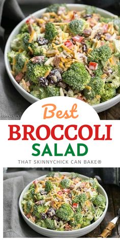 Broccoli Salad with Bacon and Dried Cherries - A classic picnic and potluck salad made even tastier with dried cherries and bacon! It will be the side dish to disappear!!!