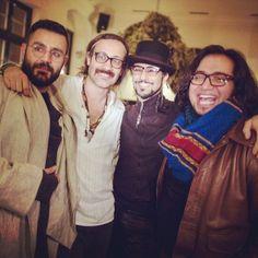 Shahin Najafi with Shahrokh Moshkin Ghalam & Majid Kazemi & Amin Khelghat in INSTAGRAM