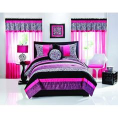 Hot pinks surrounded by fur zebra stripes and lush black and white ...