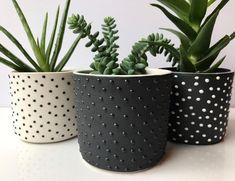 Painted Plant Pots, Painted Flower Pots, Diy Planters, Ceramic Planters, Planter Pots, Cement Planters, Ceramic Flower Pots, Diy Organizer, Cement Crafts