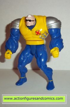 Toy Biz action figures for sale to buy: X-MEN / X-FORCE series 1994 STRONG GUY 100% COMPLETE Condition: Excellent. Figure size: approx. 4 1/2 - 5 inch -------------------------------------------------