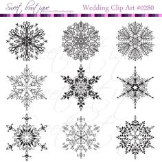 Black Christmas Snowflakes Christmas cliparts by MSweetboutique, $5.99
