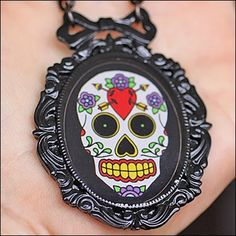 Rockabilly Jewelry & Retro Jewelry Facts, Fashions, & Trends: Sugar Skull Jewelry Collection from Classic Hardware Jewelry