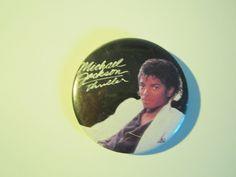 Vintage MICHEAL JACKSON pinback button by TashasVintages on Etsy