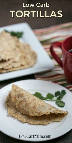 Are you looking for easy to make gluten free low carb tortillas? You'll love the taste and texture of these almond flour tortillas and keto wraps. | LowCarbYum.com via @lowcarbyum