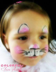 Face painting schattig katje  ~Simple kiddie face. I love it!