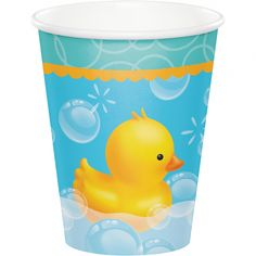 Creative Converting Rubber Duck Bubble Bath Paper Disposable Cup Set of 24 39938576523 Baby Shower Party Supplies, Baby Shower Parties, Baby Shower Centerpieces, Baby Shower Decorations, Baby Shower Napkins, Shower Bebe, Party Stores, Bubble Bath, Bath Decor