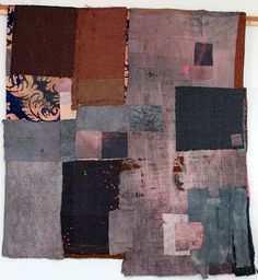"""""""Sometimes people think these are quilts that I have found and worked into but actually I have put all the pieces together myself using old quilt pieces which I have over dyed or unpicked and mixing them with other precious fabrics"""" via Thread and Thrift: Reveal One"""