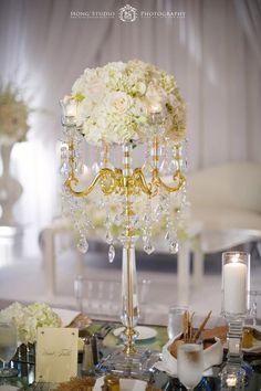 Photographer: Hong Photography; Wedding reception centerpiece idea;