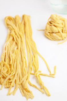 Homemade Roasted Red Pepper Pasta www.bellalimento.com