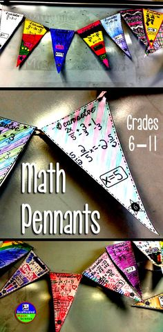 Pennants keep students engaged during problem solving while building community and classroom decor.