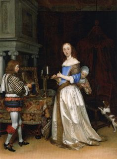 "Gerard ter Borch, ""Lady at her Toilette"" (c. 1660)"