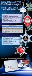 """•    modern update of the classic Star of Bethlehem (item #ORN-SB) •    Festive & rich-in-color red oblong ornament features a red translucent """"stained glass effect"""" (item #ORN-RO) •    Intricately designed snowflake is available in white or silver finish,is a favorite for folks who love snow (item # ORN-NS, ORN-WS White)   For more information, visit: http://www.emteasy.com/pages/product-pages/ornaments/ornaments-lp.html."""