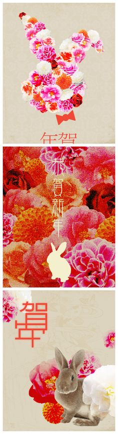 Happy Chinese (Lunar) New Year; Joyeux Nouvel An chinois; Feliz Año Nuevo Chino…