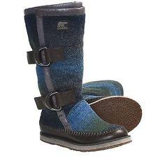 новые Sorel женские chipahko одеяло ботинки Blue Hawk размер 5