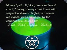 Simple Money Spell: green candle