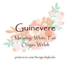 Baby Girl Name: Guinevere. Meaning: White, Fair. Nicknames: Guin,… - Baby Boy Names Baby Girl Names Welsh Baby Names, New Baby Names, Baby Girl Names, Cute Baby Girl, Boy Names, Baby Boy, List Of Girls Names, Girls Names Vintage, Nick Names For Boys
