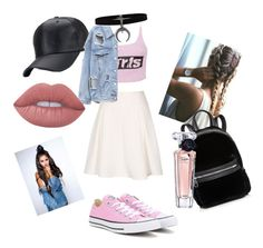 """pink #outfit #pinkoutfir"" by nagyanita on Polyvore featuring Alexander Wang, Converse, Cynthia Rowley, Lime Crime and Lancôme"