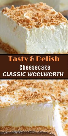 No Bake Classic Woolworth Cheesecake kuchen ostern rezepte torten cakes desserts recipes baking baking baking Brownie Desserts, Cheesecake Desserts, No Bake Desserts, Easy Desserts, Delicious Desserts, Yummy Food, Homemade Cheesecake, 9 X 13 Cheesecake Recipe, Sin Cake Recipe