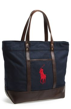 Polo Ralph Lauren Canvas Tote available at #Nordstrom