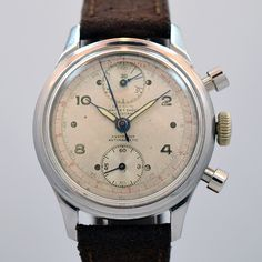 1950's Olympic 2 Register Chronograph Stainless Steel