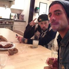 Tal Cooperman and Benji keeping it real. In the kitchen, haha.