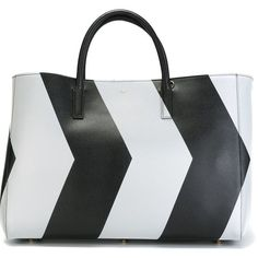 Anya Hindmarch Large Chevrons Featherweight Ebury Tote ($1,304) ❤ liked on Polyvore featuring bags, handbags, tote bags, black, chevron purse, tote hand bags, handbags totes, tote handbags and chevron tote bag