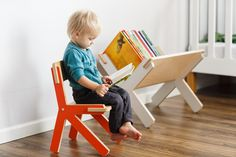 Display your collection! A great way to storage books, magazines, vinyl records. Easy way to keep your library in sight. Perfectly for kids! This bookshelf lets your child collect and reach their books without your help.  Details  length: 60cm / 24 width: 45cm / 18 height: 45cm / 18  weight: 5kg / 11lbs  materials: 100% finest birch plywood with CPL coating. Two layers of water-based lacquer.  Easy 5 minutes assembly.  Packed in a cardboard box with instructions and tools...