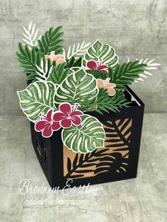 Tropical Chic Planter Box Card