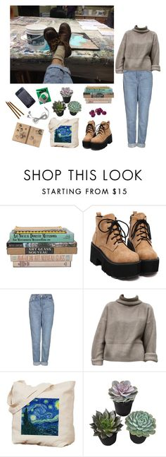 """""""art student"""" by sethxx ❤ liked on Polyvore featuring Topshop, women's clothing, women, female, woman, misses and juniors"""