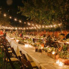 Beautiful Outdoor Reception // Danielle Capito Photography // http://www.theknot.com/weddings/album/a-vintage-fall-wedding-in-alamos-ca-140122  #wedding #decoration #table #boda #decoracion #iluminacion #outdoor #lighting #casament #decoracio #mariage #matrimonio #decorazione #reception