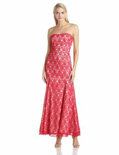 Hailey by Adrianna Papell Women's Strapless Lace Gown, Red/Nude, 4 Adrianna Papell,http://www.amazon.com/dp/B00GBZJ6K8/ref=cm_sw_r_pi_dp_ZOZotb1KB1J6AWRQ